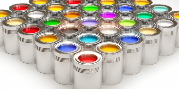 tin cans with paint 140008 146